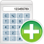 64x64px size png icon of calculator add