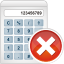 64x64px size png icon of calculator remove