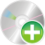64x64px size png icon of cd add