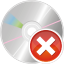 64x64px size png icon of cd remove