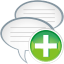 64x64px size png icon of comments add