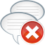 64x64px size png icon of comments remove