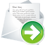 64x64px size png icon of forward new mail