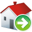 64x64px size png icon of home next