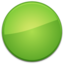 64x64px size png icon of Blank Badge Green
