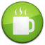 64x64px size png icon of Coffee Badge