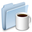 64x64px size png icon of Coffee Folder Badged