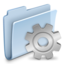 64x64px size png icon of Gear Folder Badged