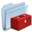 64x64px size png icon of Toolbox Folder Badged