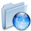 64x64px size png icon of iDisk Folder Badged