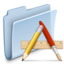 64x64px size png icon of Applications Folder Badged