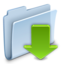 64x64px size png icon of Downlads Folder Badged