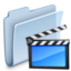 64x64px size png icon of Movies Folder Badged