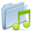 64x64px size png icon of Music Folder Badged