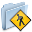 64x64px size png icon of Public Folder Badged