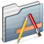 64x64px size png icon of Applications Folder graphite
