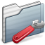 64x64px size png icon of Developer Folder graphite