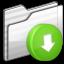 64x64px size png icon of Drop Box Folder white