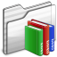 64x64px size png icon of Library Folder white