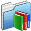 64x64px size png icon of Library Folder