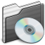 64x64px size png icon of Music Folder black