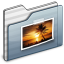 64x64px size png icon of Pictures Folder graphite