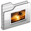 64x64px size png icon of Pictures Folder white