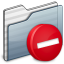 64x64px size png icon of Private Folder graphite