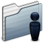 64x64px size png icon of Users Folder graphite
