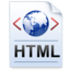 64x64px size png icon of Document Code HTML