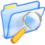 64x64px size png icon of Search folder