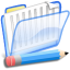 64x64px size png icon of Documentos azul