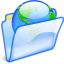 64x64px size png icon of Web folder