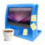 64x64px size png icon of blue computer