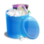 64x64px size png icon of blue recycle bin