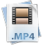 64x64px size png icon of Filetype mp 4