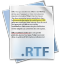 64x64px size png icon of Filetype rtf