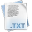 64x64px size png icon of Filetype txt