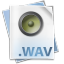 64x64px size png icon of Filetype wav