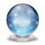 64x64px size png icon of Network globe online