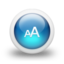 64x64px size png icon of Glossy 3d blue fontsize