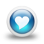 64x64px size png icon of Glossy 3d blue heart