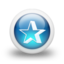 64x64px size png icon of Glossy 3d blue orbs2 039