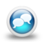 64x64px size png icon of Glossy 3d blue orbs2 040
