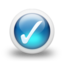 64x64px size png icon of Glossy 3d blue orbs2 042