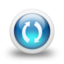 64x64px size png icon of Glossy 3d blue orbs2 053