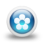 64x64px size png icon of Glossy 3d blue orbs2 062