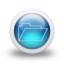 64x64px size png icon of Glossy 3d blue orbs2 063