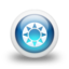 64x64px size png icon of Glossy 3d blue orbs2 097