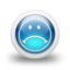 64x64px size png icon of Glossy 3d blue orbs2 098